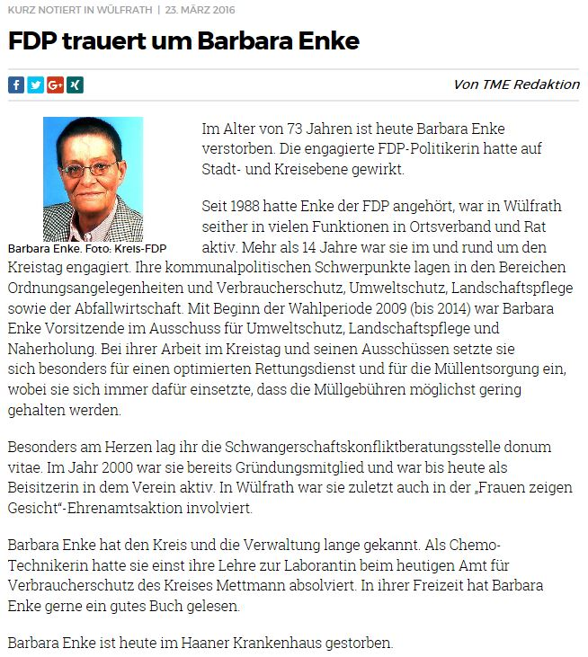 Barbara Enke Rheinische Post